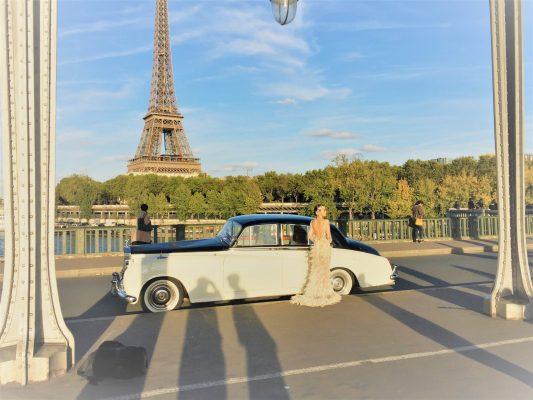 Locarolls location Rolls Royce photos de mariage à paris